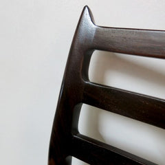 Closeup of Back of Moller Model 78 Chair