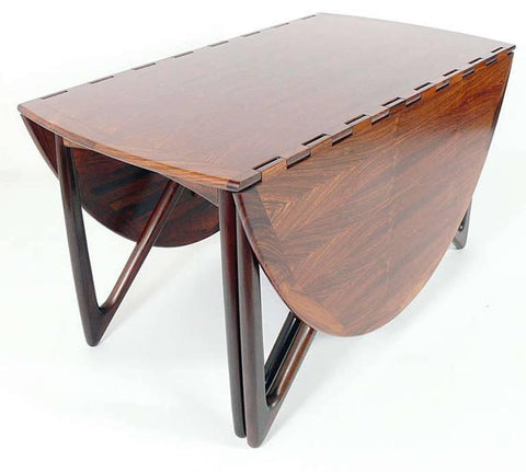 Kurt Ostervig Folding Dining Table, Closed