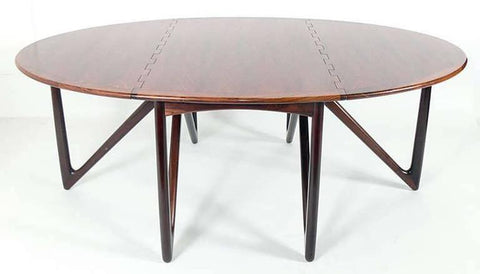 Kurt Ostervig Folding Dining Table