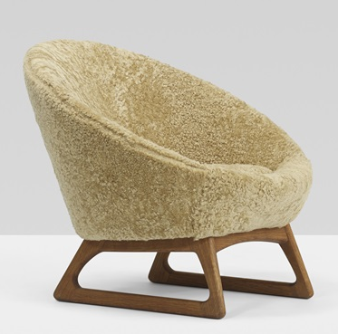 Kurt Ostervig Model 57A Chair, Sheepskin Cover