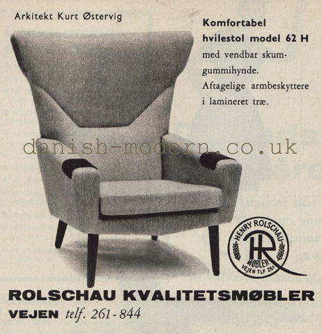 Vintage Advertisement for Kurt Ostervig Model 62 Chair