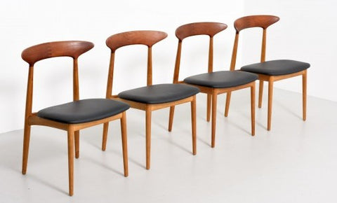 Oak and Teak Dining Chairs by Kurt Ostervig