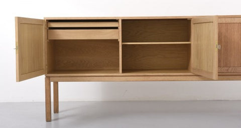 Ostervig Oak Sideboard with Doors Open
