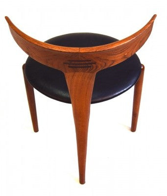 Teak and Leather Chair by Kurt Ostervig, Back View