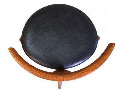 Kurt Ostervig Teak and Leather Chair, Top View