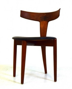 Kurt Ostervig Teak and Leather Dining Chair