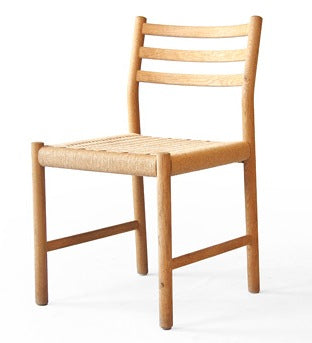 Kurt Ostervig Oak and Rattan Chair