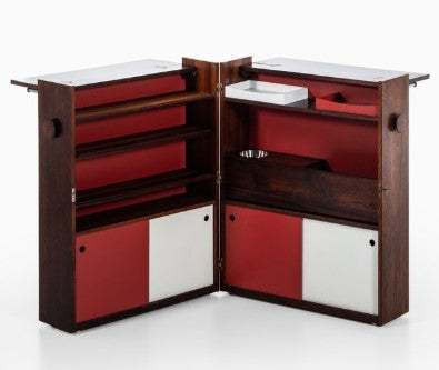 Buch & Andersen Bar Cabinet by Dyrlund, Opened Up. Image from Pamono.ca