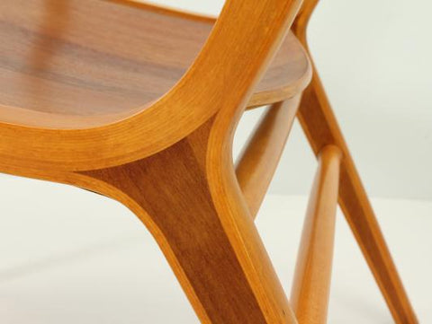 Closeup of AX Chair by Hvidt and Molgaard-Neilsen
