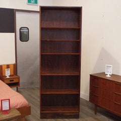 Narrow Rosewood Bookcase by Poul Hundevad