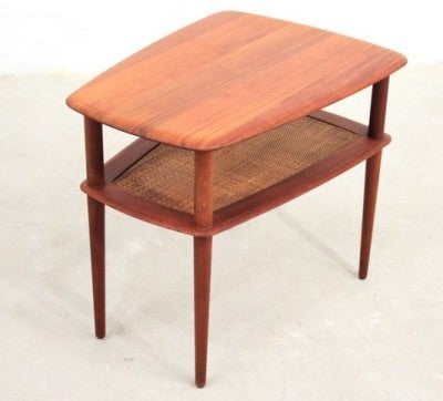 Hvidt and Molgaard-Nielsen Coffee Table with Cane Inlay