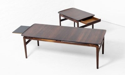 Rosewood Coffee and Side Tables by Hvidt and Molgaard-Nielsen