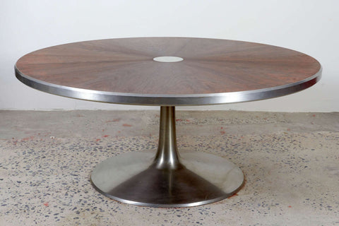 Rosewood and aluminum table by Cadovius