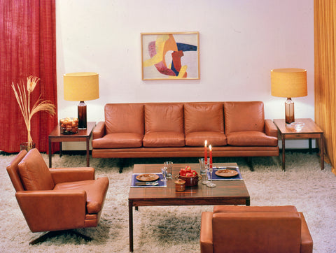 Model 807 Sofa and Armchairs by Fredrik Kayser.