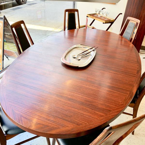 Dyrlund Rosewood Dining Table. From VHB Collection.