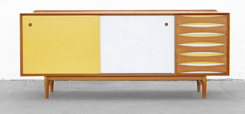 Arne Vodder Yellow Lacquer Model 29 Sideboard