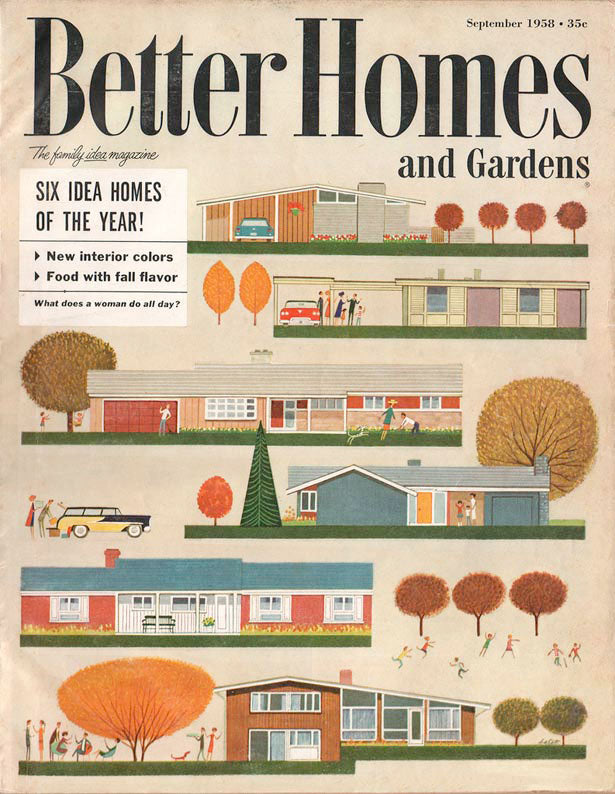 Vintage Better Homes & Gardens Photo--Mid Century Modern