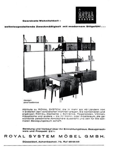 Vintage Ad Poul Cadovius Royal Shelf System