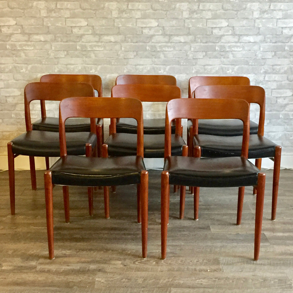 Niels Moller Model 75 Dining Chairs With Upholstery