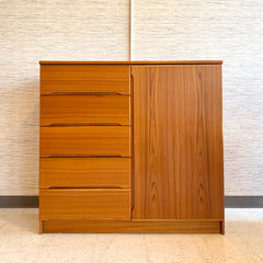 Danish Modern Teak Gentlemans Dresser Or Wardrobe