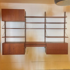 3 Section Mid-Century Teak Royal System Wall Unit By Poul Cadovius