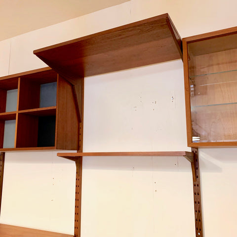 3 Section Mid-Century Teak System Cado Wall Unit By Poul Cadovius