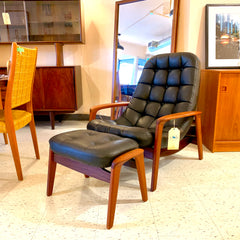Mid-Century Teak Scoop Armchair By R Huber
