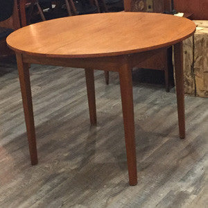 Mid-Century Modern Compact Round Teak Dining Table with Butterfly Leaf - Vintage Home Boutique - 2