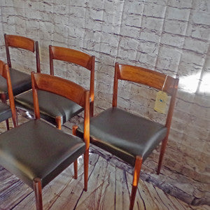 Mid-Century Solid Rosewood Dining Chairs by Lubke - Vintage Home Boutique - 2