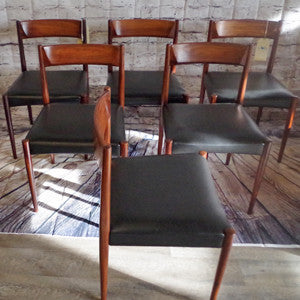 Mid-Century Solid Rosewood Dining Chairs by Lubke - Vintage Home Boutique - 3