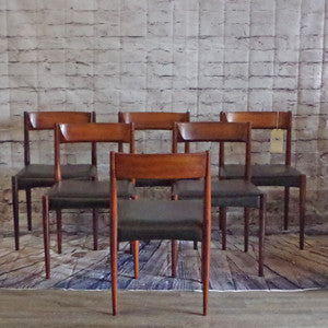 Mid-Century Solid Rosewood Dining Chairs by Lubke - Vintage Home Boutique - 4