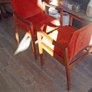 Canadian Mid Century Walnut Armchairs By Walter Nugent - Vintage Home Boutique - 6