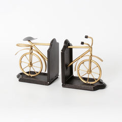 Antique Brass Finish Bicycle Bookends - Vintage Home Boutique