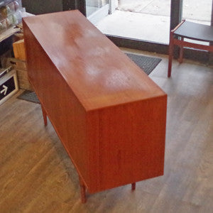 Mid Century Danish Teak Sideboard with Finished Back - Vintage Home Boutique - 3