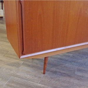 Mid Century Danish Teak Sideboard with Finished Back - Vintage Home Boutique - 4