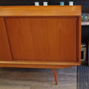 Mid Century Danish Teak Sideboard with Finished Back - Vintage Home Boutique - 8