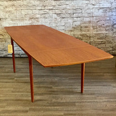 Arne Vodder Mid Century Teak Dining Table with Drop Leaves