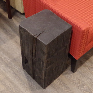 Barn Beam Cube Side Table - Vintage Home Boutique - 1