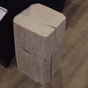 Barn Beam Cube Side Table - Vintage Home Boutique - 3