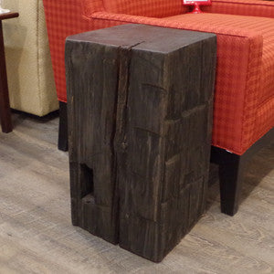 Barn Beam Cube Side Table - Vintage Home Boutique - 2