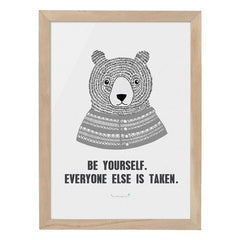 Be Yourself Teddy Framed Print - Vintage Home Boutique