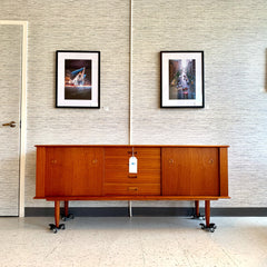 Exceptional Canadian Mid-Century Teak Sideboard By R Huber