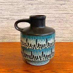Keramik Black And Teal Vase Carstens Tönnieshof Model 1531 - 20