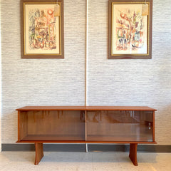 Canadian Mid-Century Teak Low Bookcase Or Media Cabinet By R Huber