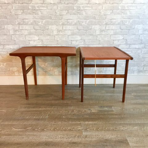 Canadian Mid-Century Teak And Rosewood Side Tables
