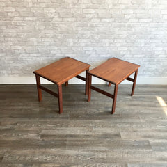 Canadian Mid-Century Teak And Rosewood Side Tables By R Huber