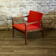 Canadian Mid-Century Walnut Lounge Chairs by Walter Nugent