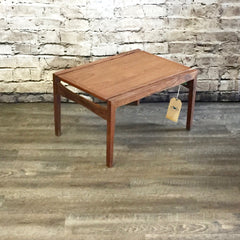 Mid-Century Walnut Side or Coffee Table By Walter Nugent