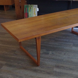Canadian Mid Century Solid Teak Coffee Table - Vintage Home Boutique - 2