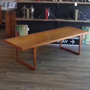 Canadian Mid Century Solid Teak Coffee Table - Vintage Home Boutique - 3